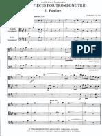 Jacob-Three Pieces for Trombone Trio. Partitur