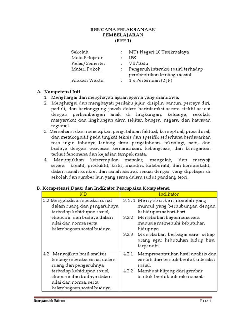 Contoh Rpp K13 Edisi 2017 Noer Bahrum Docx
