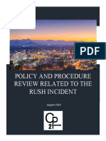 21CP Report on Rush Incident