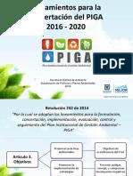 Lineamientos para la concertación del PIGA 2016 - 2020 Secretaría Distrital de Ambiente