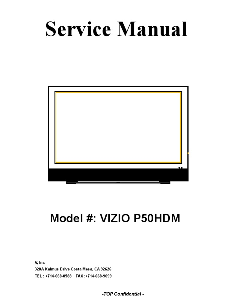 vizio p50 hdm p50 hdtv20a plasma tv service manual circuit diagram for 7 segment decoder