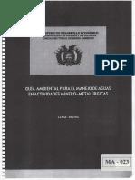 Guia Ambiental Para El Manejo de Aguas en Mineria y Metalurgia