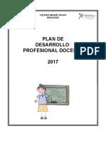 Plan Anual de Desarrollo Docente 2017