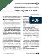 Requisitos de La Provisión Discriminada en Las Cuentas Por Cobranza Dudosa