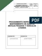 Procedimiento Inspecciòn y Mantenimiento de Equipos Mòviles Pesados y Vehìculos Livianos