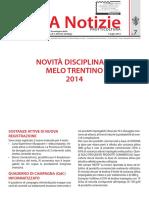 IASMA+NOTIZIE+FRUTTICOLTURA+N.7+-+Novità+disciplinare+melo+Trentino+2014