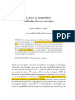 Limites Da Sexualidade Maria Filomena Gregori