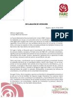 Declaración oposición FARC