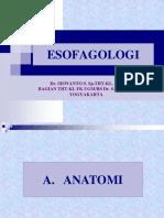 Esofagoskopi, dr. Siswanto.ppt