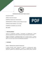 Programa - Administración y Gestión Educativa