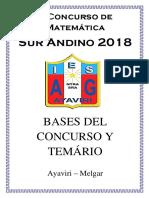 "BASES V CONCURSO DE MATEMÁTICA ""SUR ANDINO"" 2018"