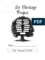 October Family Heritage Project