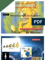 Prevencion de Riesgos y Prevencion de Caidas. Diapositiva