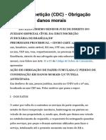 Modelo Ação Direito Consumidor- Fazer Cumulada Com Danos Morais