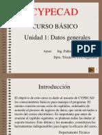 Datos generales CYPECAD