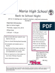 Smhs Back to School Night 2018