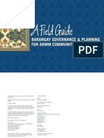 Barangay Governance and Planning - A Field Guide