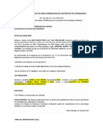Formulario de Solicitud Para Aprobación de Contratos de Extranjeros