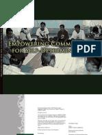 Empowering Communities for Self-Determination