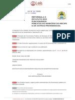 Lei Ordinaria 14728 1985 Recife PE Consolidada [27!12!2017]