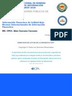 Información Financiera de Calidad - Alex Cuzcano
