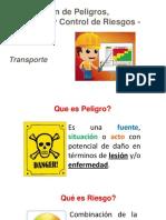 7.2 Identificación de Peligros, Evaluación y Control de Riesgos (IPERC) - Transportes
