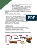 Instrumentos de Percusión, De Viento y de Cuerdas