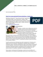 Reflexiones Desde La Bioetica Sobre La Nutriologia en Mexico