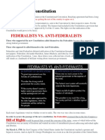 Ratifying the Constitution Federalist vs Anti- Ffederalist