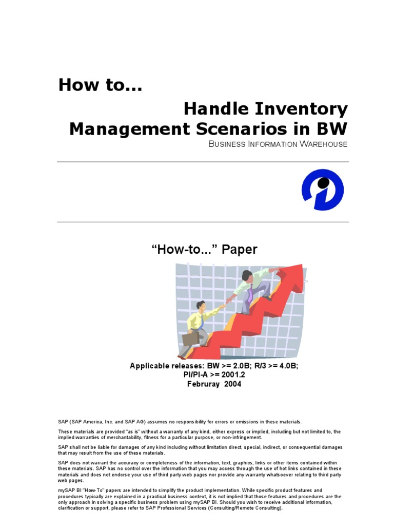 How to handle inventory management scenarios in bw inventory stocks malvernweather Image collections