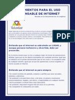Lineamientos para el uso responsable de internet