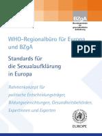 WHO BZgA Standards Deutsch Sexualaufklärung