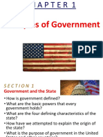 Ch 1 Principals of Government