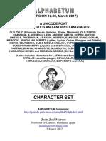 Alphabetum Chart