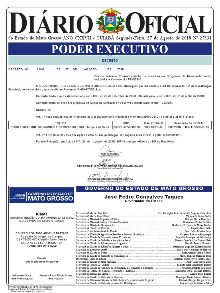Diario Oficial 2018-08-27 Completo b5359d6316