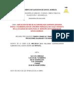 Nota Tecnica Pavientacion y Drenaje Calle 5 de Mayo