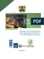 Strategic Environmental and Social Assessment (SESA) of the Mining Sector in Kenya