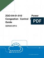 GERAN UR15 ZGO-04!01!010 Power Congestion Control Feature Guide (V3)_V1.0