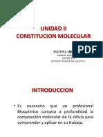 unidad ii constitucion molecular y carbohidratos
