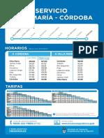 Tren Córdoba - Villa María
