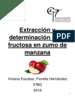Extracción y Determinación de Fructosa en Zumo de Manzana