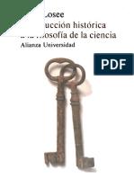 John Losee - Introducción Histórica a La Filosofía de La Ciencia