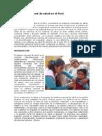 El Sistema Nacional de Salud en El Perú
