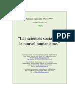 Le nouvel humanisme les sciences sociaux