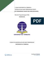 Download Soal Ujian UT PGPAUD PAUD4202 Metode Pengembangan Fisik.pdf
