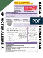 Sersion Sistema de Trre Ecuaciones