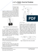 Stabilization of a Mobile Inverted Pendulum