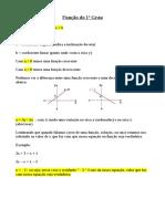 Teoria Funções 1º Grau Cursinho Pré ENEM