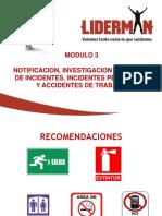 Curso 02 Modulo 3 Notificación, Investigación y Reporte de Incidentes, Incidentes Peligrosos y Accidentes de Trabajo