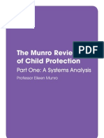 The Munro Review of Child Protection Part One 2010